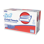 Scott® Folded Paper Towels, C-Fold, 13 1/5 x 10 1/10, White, 2400 per Carton