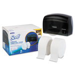 "Kimberly-Clark Coreless JRT Bath Tissue Dispenser Kit, 17.25"" x 11.81"" x 11.56"", Smoke/White"