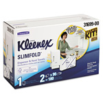 "Kleenex KLEENEX SLIMFOLD Hand Towel Dispenser Starter Kit, 14.93"" x 13.13"" x 8.5"", White"