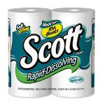 Kimberly-Clark Scott™ Rapid Dissolve 1 Ply Bathroom Tissue, 120' Roll, 4 Rolls per Pack