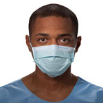 Kimberly-Clark Procedure Mask, Pleat-Style w/Ear Loops, Blue, 500/Carton