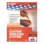 Kleer-Fax Custom Indexes, 8 Tabs, Unpunched, Clear