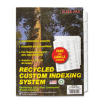 Kleer-Fax Custom Indexes, 8 Tabs, Unpunched