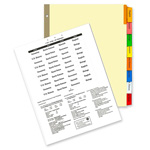 "Kleer-Fax Insertable Ring Book Indexes, 8 Tabs, 11"" x 8 1/2"", Color"