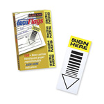 "Kleer-Fax Document Flag "" sign Here"", Yellow Translucnet"