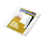 "Kleer-Fax ""Exhibit A"" Index Tabs, White"