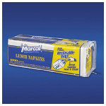 Marcal Lunch Napkins, White, 1 Ply, 6 Packs of 1000