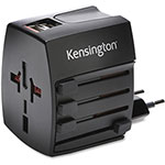 Kensington International Travel Adapter w/2.4A Dual USB Charger, Black