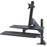 Kensington Sit-Stand Workstation with SmartFit, 48 x 34 x 44 3/4, Black