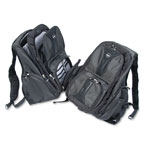 Kensington 62238 Contour Notebook Backpack, Denier Ballistic Nylon, 15 3/4w x 9d x 19 1/2h, Black
