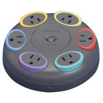 Kensington® 62634 SmartSocket Six Outlet Tabletop Surge Protector, 1500 Joules