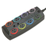 Kensington® 62691 Premium Color Coded Eight Outlet Adapter Model Surge Protector