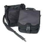 Kensington 64079 SaddleBag Notebook Computer Convertible Carrying Case, Black/Black