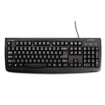 Kensington Pro Fit USB Washable Keyboard, 104 Keys, Black