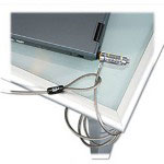 Kensington Combosaver Combination Notebook Lock, 6 ft, Steel Cable, Silver