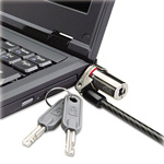 Kensington Brands Microsaver DS Ultra-Thin Laptop Lock, Silver, Two Keys
