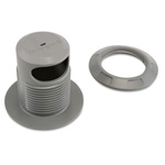 Acco Hole Cable Anchor, Security Slot For Cable, Gray
