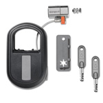 "Kensington® ClickSafe Keyed Retractable Laptop Lock, 2"" Wide, Black"