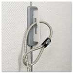 Kensington Partition Cable Anchor, Gray