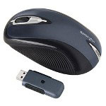 Kensington PilotMouse Laser Wireless Mouse, 2.4Ghz, 3 Button, Blue/Black