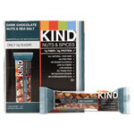 Kind Nuts and Spices Bar, Dark Chocolate/Nuts/Sea Salt, 1.4 oz, 12/Box