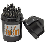 "KnKut 29 Piece Drill Buddy Jobber Length Drill Bit Set with 3/8"" Reduced Shank"