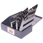 KnKut 29 Piece Fractional Jobber Length Drill Bit Set