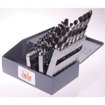 "KnKut 29 Piece Stubby Length Drill Bit Set 1/16""-1/2"" by 64ths"