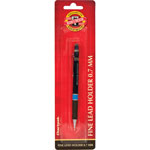 Koh-I-Noor Mechanical Pencils, Rubber Grip, Black/Silver
