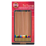 Koh-I-Noor Tri-Tone Multicolored Pencils, 12/ST, Multi