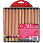 Koh-I-Noor Tri-Tone Multicolored Pencils, 24/ST, Multi