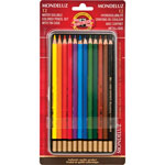 Koh-I-Noor Mondeluz Pencils, 12-Set, Assorted