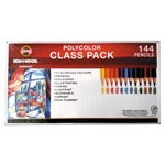 Koh-I-Noor Polycolor Drawing Pencils, 3.8 mm, Class Pack, 12 Assorted Colors/Set