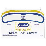 Krystal Premium Half-Fold Toilet Seat Covers, 250 Covers/Box, 4 Boxes/Carton