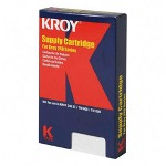 "Kroy Inc. Duratype 240 Series Labeling Tape, Indus, 1/2""x50', WE/BK"