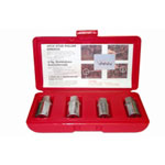 "K Tool International 4 Piece 1/2"" Drive Metric Stud Remover Set"