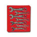 K Tool International 7 Piece Metric Short Combination Wrench Set