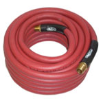 "K Tool International 1/2"" x 25' Rubber Air Hose, 1/2"" NPT"