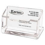 Kantek Clear Acrylic Business Card Holder, Accommodates up to 80 Cards