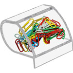 Kantek Clear Acrylic Paper Clip Holder