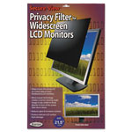 "Kantek LCD Privacy Filter, Fits, 21.5"" Widescreen, Black"