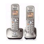 Panasonic KX-TG4012N DECT 6.0 PLUS Expandable Digital Cordless Phone with 2 handsets