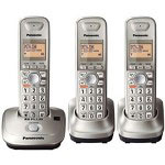 Panasonic KX-TG4013N DECT 6.0 PLUS Expandable Digital Cordless Phone with 3 Handsets
