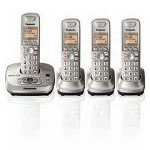 Panasonic KX-TG4024N DECT 6.0 PLUS Expandable Digital Cordless Answering System with 4 Handsets