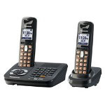 Panasonic KX-TG6442T Expandable Digital Cordless Telephone with Answering System with 2 Handsets