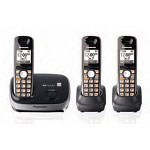 Panasonic KX-TG6513B DECT 6.0 PLUS Expandable Digital Cordless Phone System with 3 Handsets