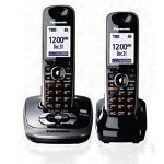 Panasonic KX-TG6532B DECT 6.0 PLUS Expandable Digital Cordless Answering System with 2 Handsets
