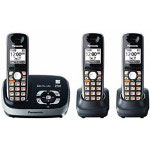 Panasonic KX-TG6533B DECT 6.0 PLUS Expandable Digital Cordless Answering System with 3 Handsets