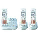 Panasonic KX-TG9343S DECT 6.0 Expandable Digital Cordless Phone with Dual Keypads and 3 Handsets, Silver
