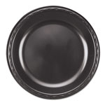 "Genpak Foam Dinner Plate, 10 1/4"", Black, Case of 4"